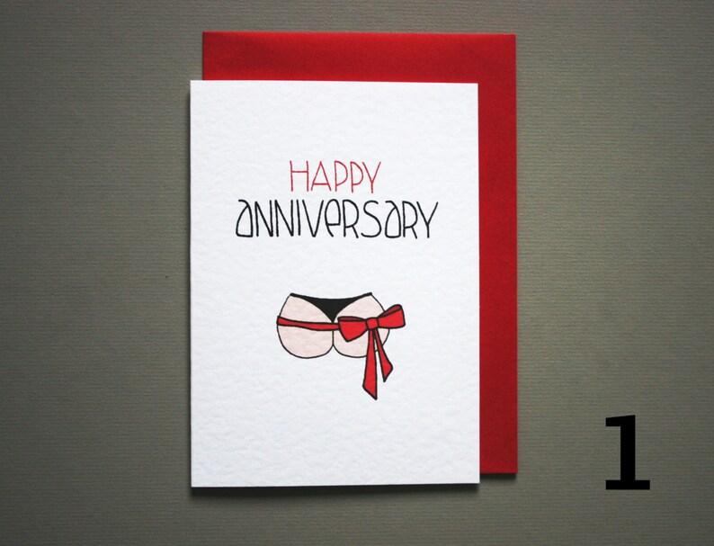 anniversary gift boyfriend card for husband funny one year