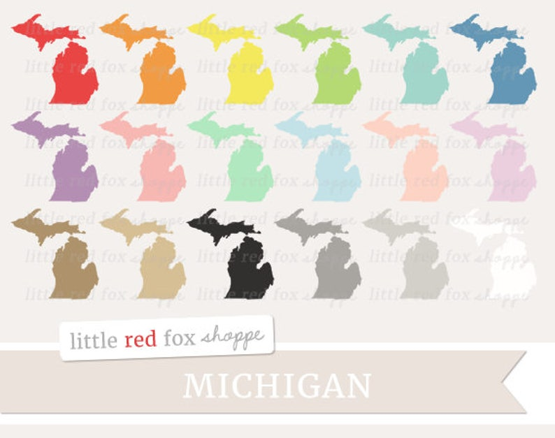 Michigan Clipart US State Clip Art USA Clipart State image 0