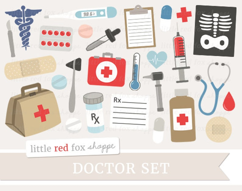 Medical Clipart Doctor Clip Art First Aid Kit Clipart Nurse image 0