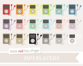 MP3 Player Clipart, Music Clip Art Work Out Fitness Media Song Playlist Gym Party Tunes Cute Digital Graphic Design Small Commercial Use