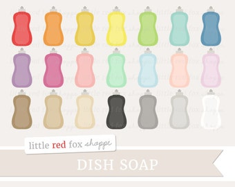 Dish Soap Clipart, Soap Bottle Clip Art Kitchen Clean Cleaning Washing Icon Wash Dishes Cute Digital Graphic Design Small Commercial Use