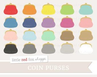 Coin Purse Clipart, Clutch Clip Art, Money Clipart, Handbag Clipart, Wallet Clipart, Icon Cute Digital Graphic Design Small Commercial Use