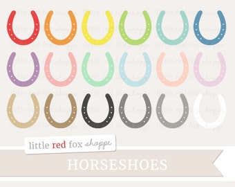 Horseshoe Clipart, Horse Shoe Clip Art, St. Patrick's Day Clipart, Western Clipart, Icon Cute Digital Graphic Design Small Commercial Use
