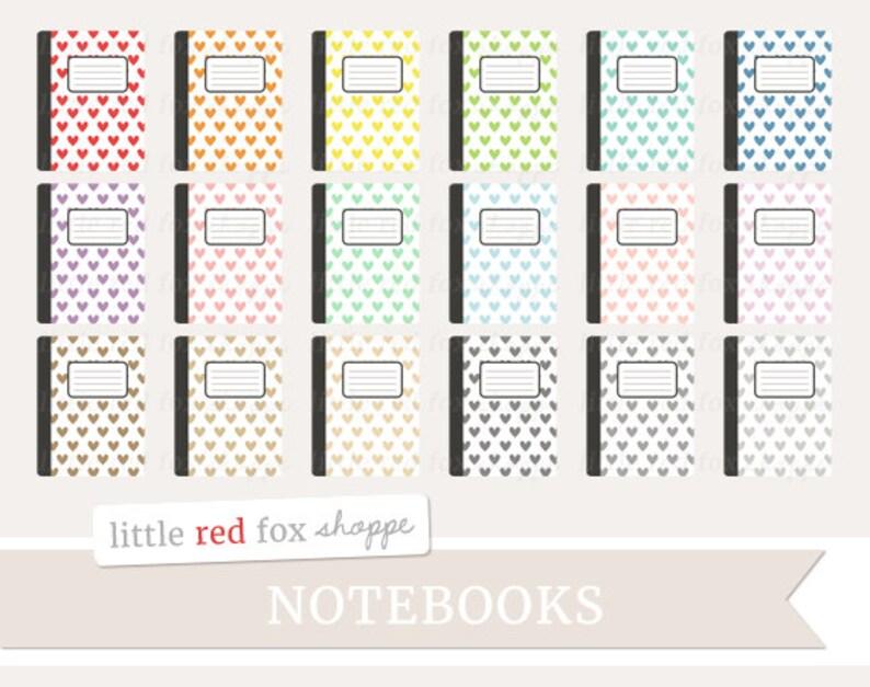 Notebook Clipart Heart Journal Clip Art Composition Office image 0