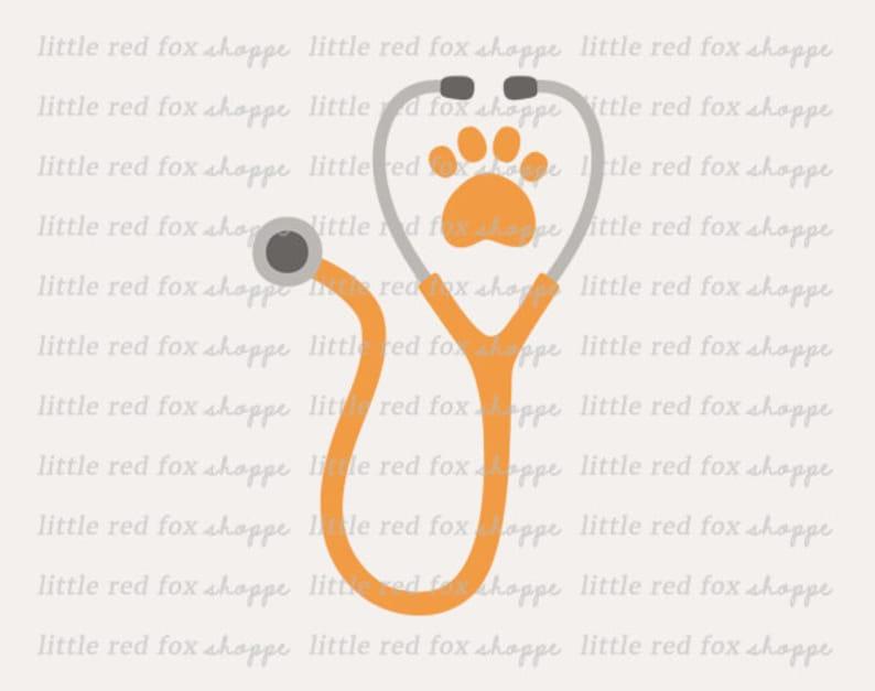 Stethoscope Clipart Veterinarian Clip Art Animal Medical ...