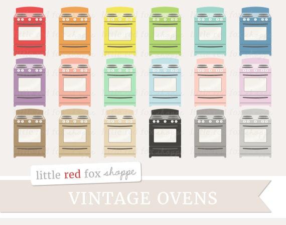 Vintage Oven Clipart Stove Clip Art Baking Antique Range ...