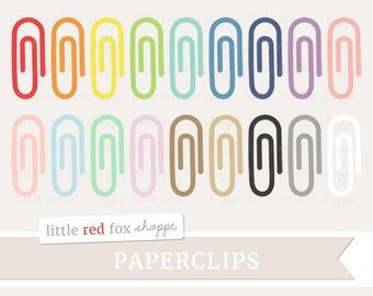 Paperclip Clipart, Office Supplies Clip Art Cute Paper Metal Rainbow Teacher Classroom Cute Digital Graphic Design Small Commercial Use