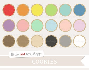 Cookie Clipart, Sugar Cookie Clip Art Frosting Icing Food Dessert Cooking Baking Kitchen Cute Digital Graphic Design Small Commercial Use