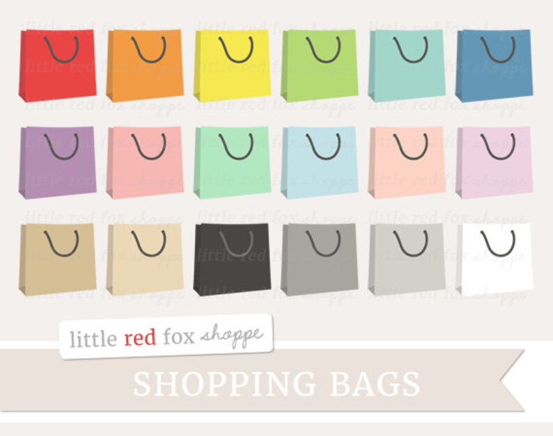 Shopping Bag Clipart Handbag Clip Art Grocery Shop Icon Paper image 0