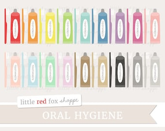 Toothpaste Clipart, Dentist Clip Art, Toothbrush Clipart, Bathroom Clipart, Teeth Clipart, Cute Digital Graphic Design Small Commercial Use