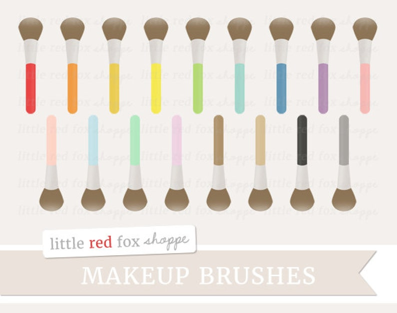 Makeup Brush Clipart Make Up Brushes Clip Art Beauty image 0