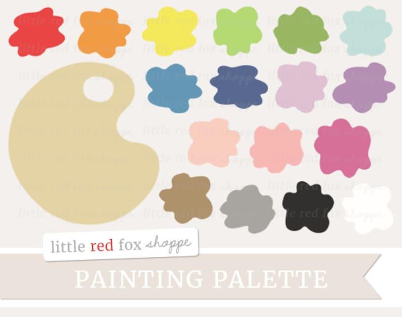 Painting Palette Clipart Paint Palette Clip Art Paintbrush image 0