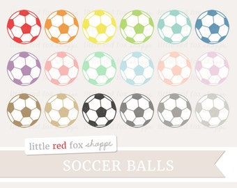 Soccer Ball Clipart, Sports Clip Art Sport Equipment Health Fitness Exercise Game Work Out Cute Digital Graphic Design Small Commercial Use