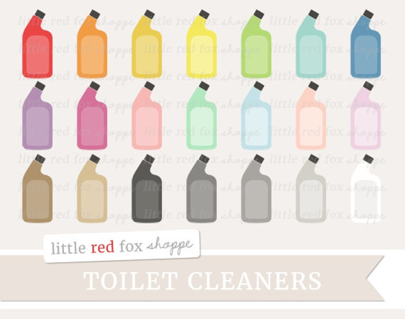 WC Reiniger Clipart, WC Schüssel sauberer Clip Art-Bad WC Bürste reinigen  Symbol süß digitale Grafik-Design kleine kommerzielle Nutzung