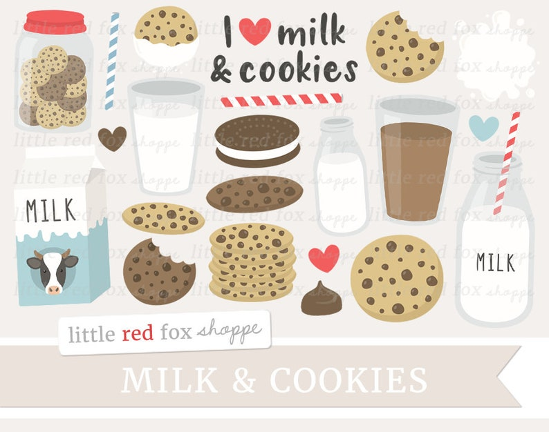 Milk & Cookies Clipart Chocolate Chip Cookie Clip Art Milk image 0