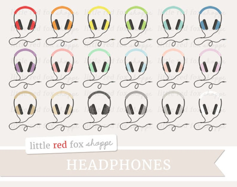 Headphones Clipart Music Clip Art Radio MP3 Player Fitness image 0