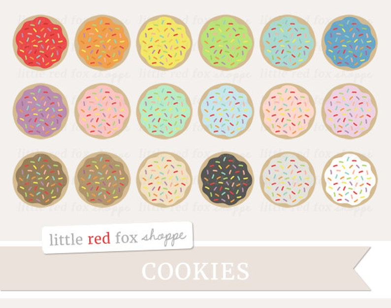 Cookie Rainbow Sprinkles Clipart Cookie Clip Art Frosting image 0