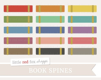 Book Spines Clipart, School Books Clip Art Vintage Library Textbook Teacher College Book Cute Digital Graphic Design Small Commercial Use