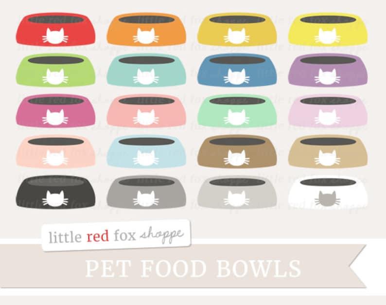 Pet Food Bowl Clipart Food Bowls Clip Art Dog Clipart Cat image 0