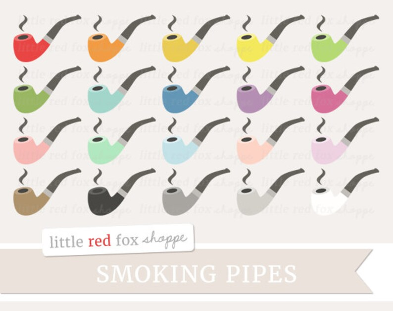 Pipe Clipart Tobacco Pipe Clip Art Smoking Smoke Manly Rustic image 0