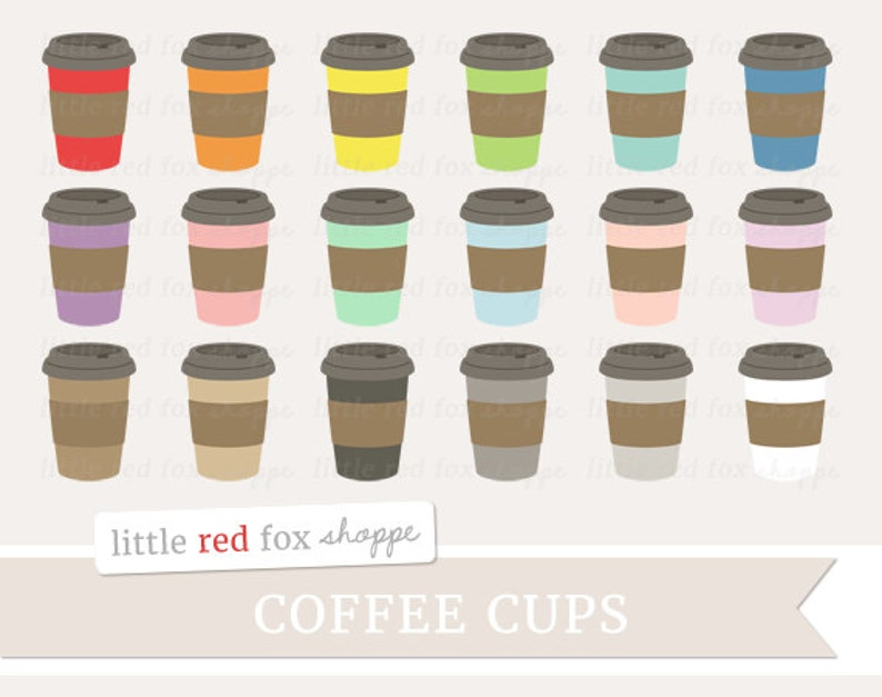 Coffee Clipart Paper Cup Clip Art Latte Cappuccino Drink Mug image 0
