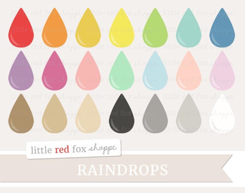 Raindrop Clipart Rain Drop Digital Clip Art Weather Storm image 0