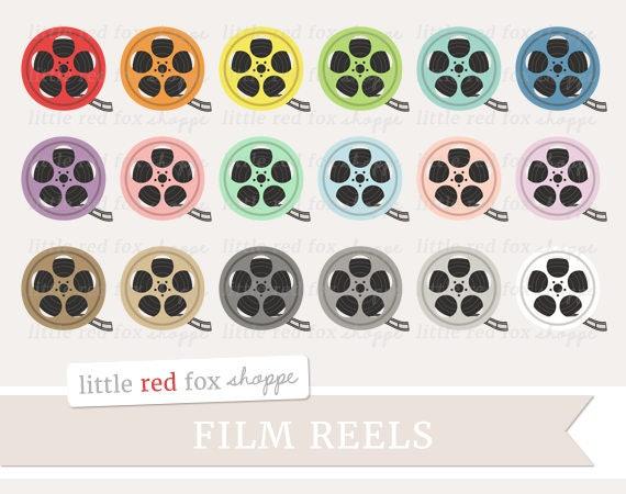 Film Reel Clipart Movie Clip Art Film Clipart Theater Etsy