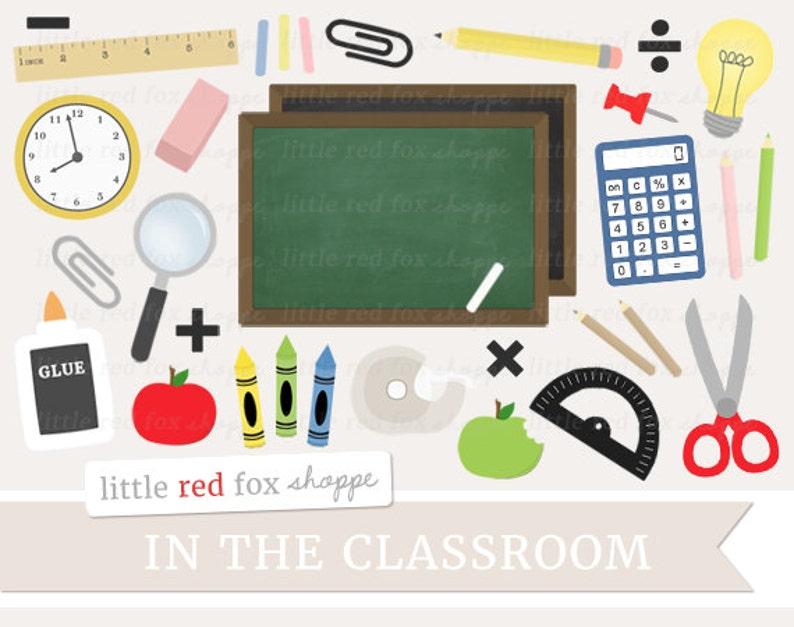 Classroom Clipart School Supplies Clip Art Chalkboard image 0