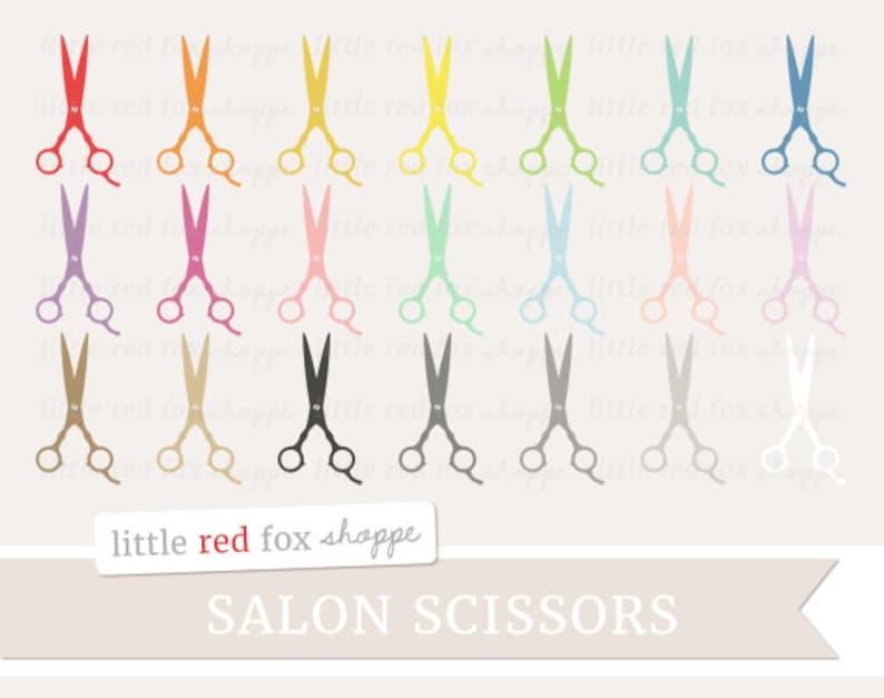 Salon Scissors Clipart Beauty Shop Clip Art Hair Stylist image 0