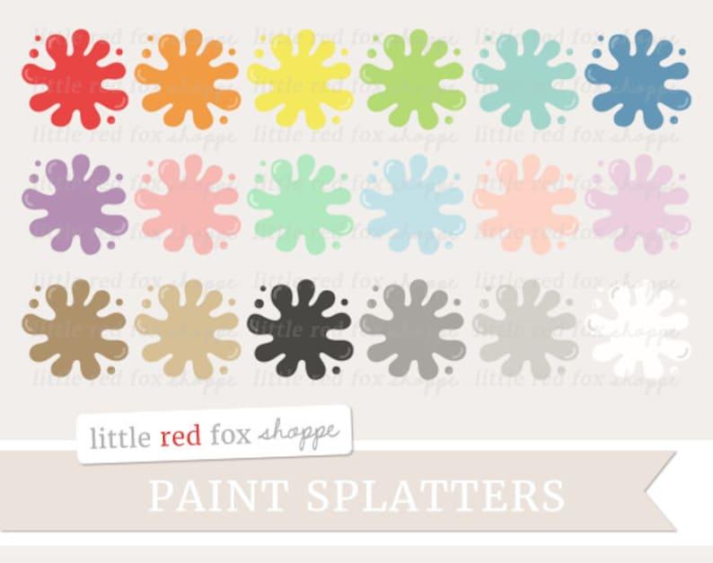 Paint Splatter Clipart Painting Clip Art Paint Splash Splotch image 0