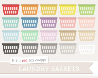 Laundry Basket Clipart, Laundry Day Clip Art Hamper Cleaning Clean Icon Clothes Clothing Cute Digital Graphic Design Small Commercial Use