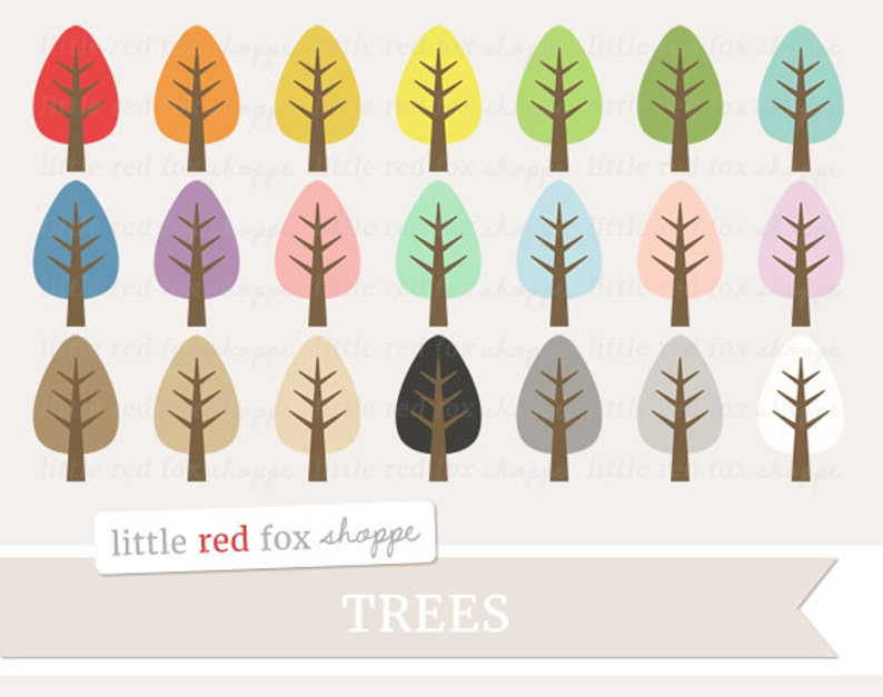 Tree Clipart Nature Clip Art Forest Woods Woodland Branch image 0