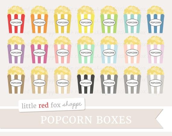 Popcorn Box Clipart Movie Theater Clip Art Cinema Vintage