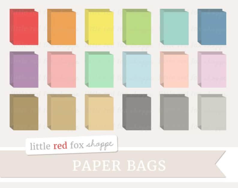 Paper Bag Clipart Grocery Bag Clip Art Brown Kraft Sack image 0