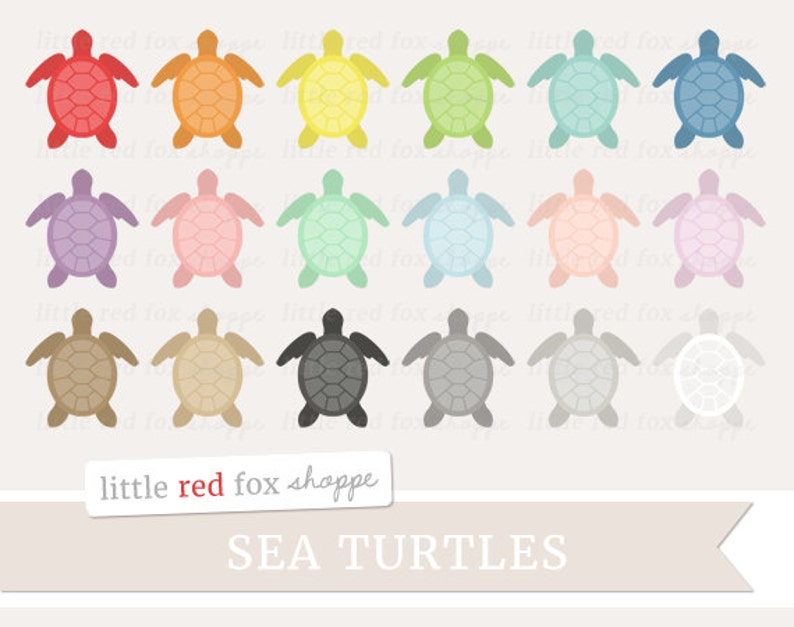 Sea Turtle Clipart Turtle Clip Art Ocean Animal Shell image 0
