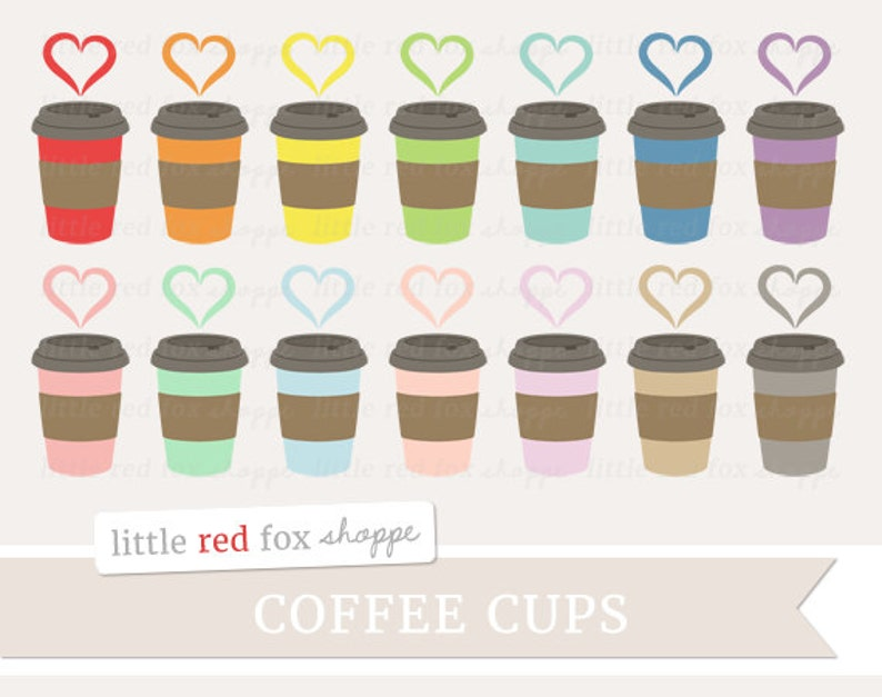 Coffee Heart Clipart Coffee Cup Clip Art Valentines Latte image 0