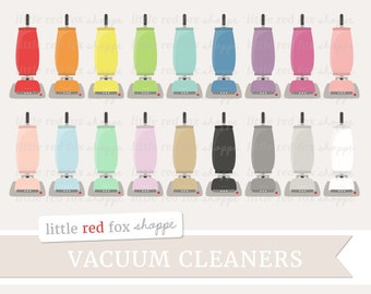 Vacuum Cleaner Clipart, Cleaning Clip Art Vintage Retro Upright Clean Home Planner Clipart Cute Digital Graphic Design Small Commercial Use