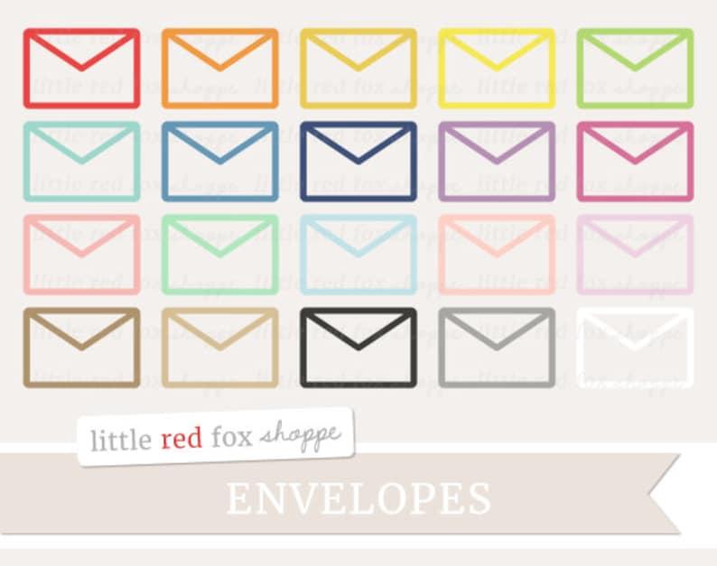 Envelope Outline Clipart Office Clip Art Mail Letter image 0