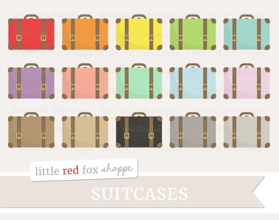 Suitcase Clipart Travel Clip Art Vintage Luggage Bag Case ...