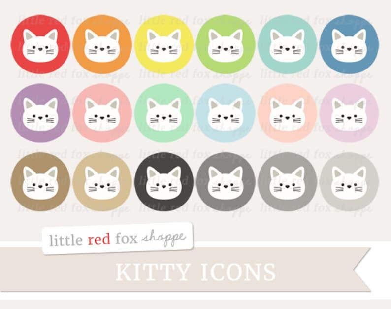 Kitty Icon Clipart Cat Icon Clip Art Cat Face Cat Head Pet image 0