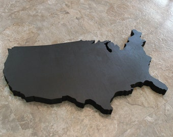 Map Wall Decor, Chalkboard United States Map, Home Decor, Wooden US map Chalk Board, Chalk Wall Hanging, Drawing Canvas