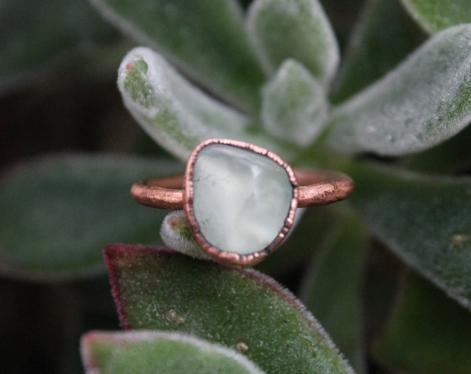 Size 6 1/2 | Prehnite | Handmade With Recycled Copper