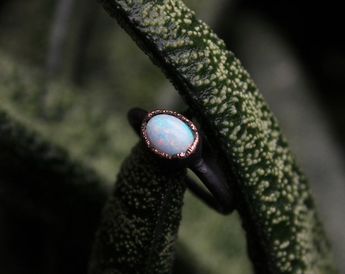 Size 5 1/2 | Sterling Opal | Handmade With Recycled Copper