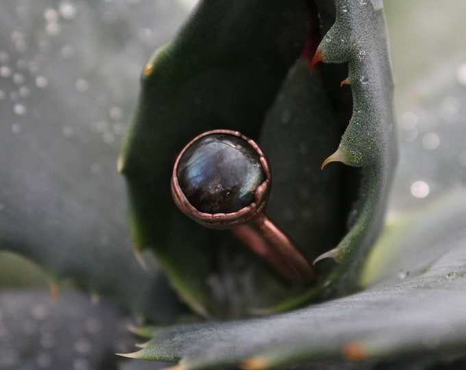 Size 6 | Labradorite | Handmade With Recycled Copper