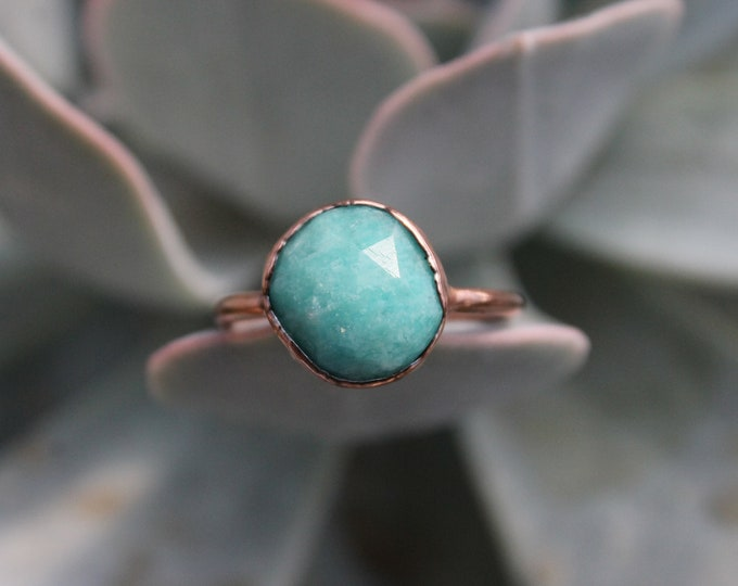 Size 8 3/4 | Amazonite | Handmade With Recycled Copper