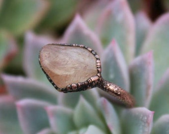 Rutile | Rutile Quartz Ring | Rutile Quartz | Quartz Ring | Copper Rutile Quartz | Ready-To-Ship