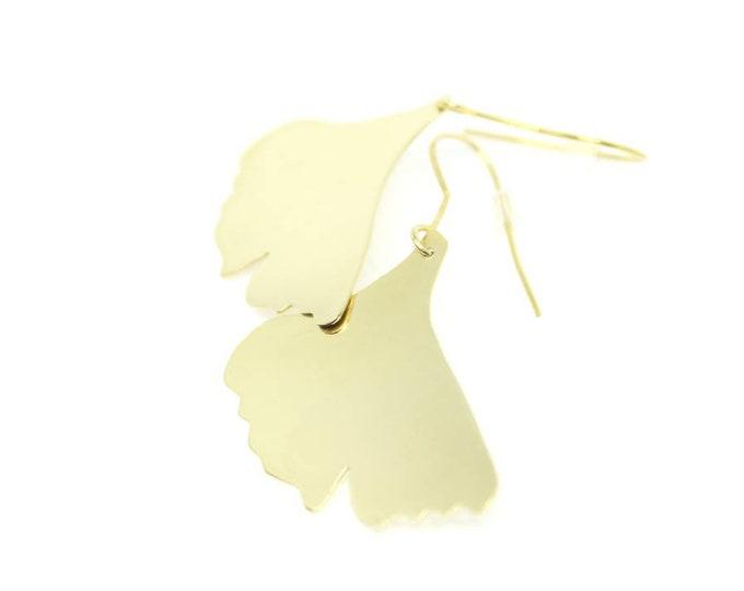 Ginkgo Leaves | Handmade In Raw Brass