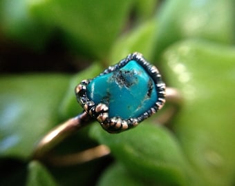 Turquoise | Turquoise Ring | Copper Ring | Mineral Ring | Turquoise Jewelry | Turquoise Stone | Ready-To-Ship