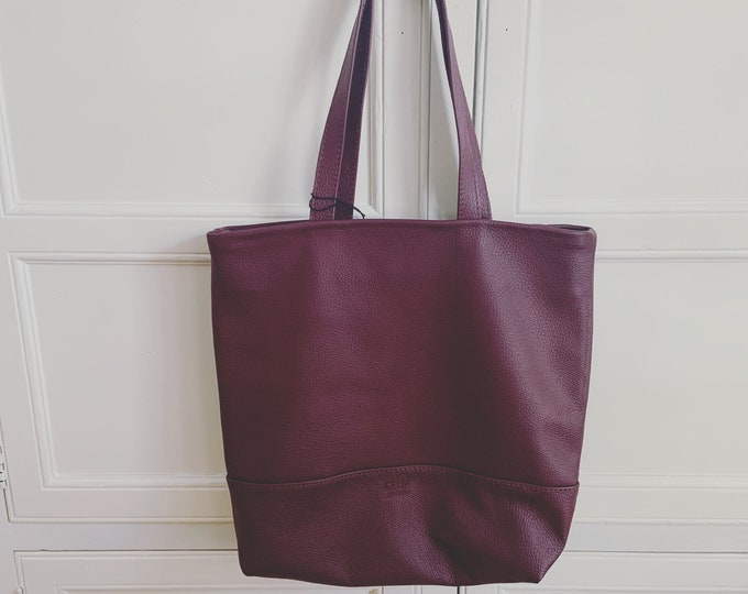 Market Tote; Beach Bag; Handmade Leather Tote; tote