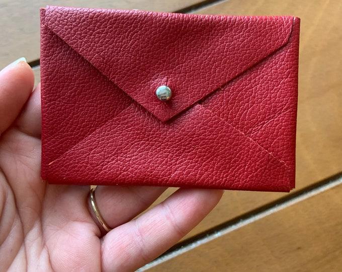 Leather card case/ leather wallet / envelope card case